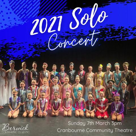 2021 Solo Concert