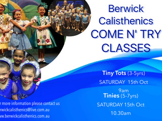 Come n' Try Class