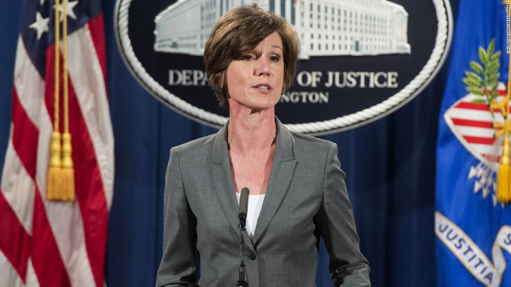 Trump Fires Defiant Acting Attorney General, Sally Yates