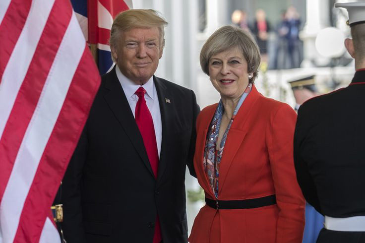 UK's PM Theresa May Meets US President Donald Trump