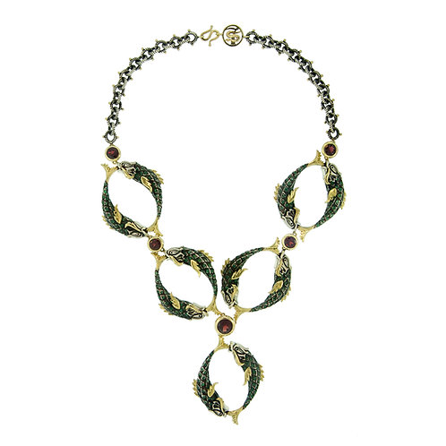 Couture Emerald Skin Necklace