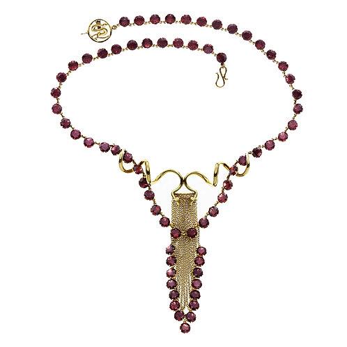 Couture Garnet Necklace