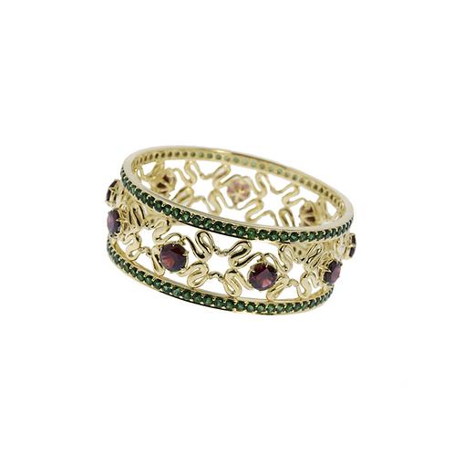 Couture Garnet Bracelet