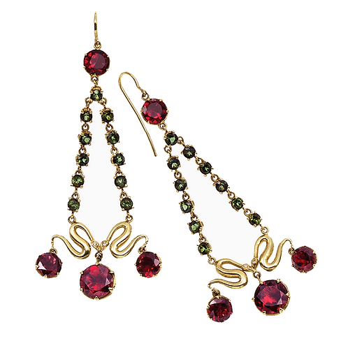 Couture Garnet Earrings