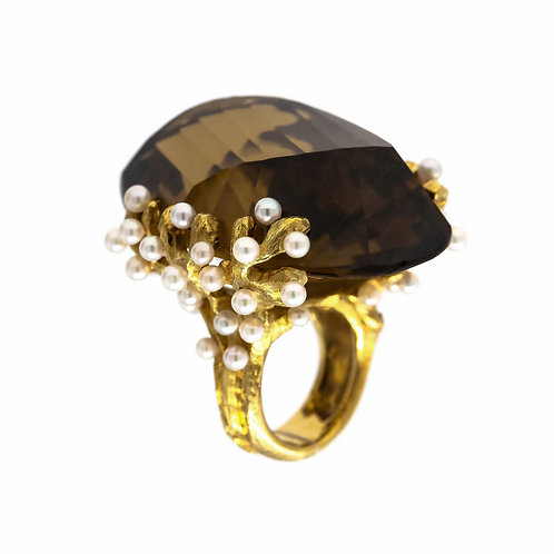 Couture Coral Branch Ring