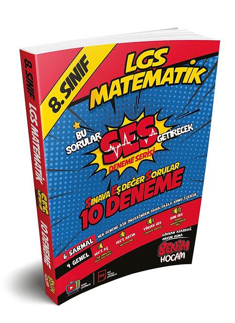 LGS 8. Sınıf SES Serisi Matemaik 10 Fasikül Deneme Benim Hocam Yayınları