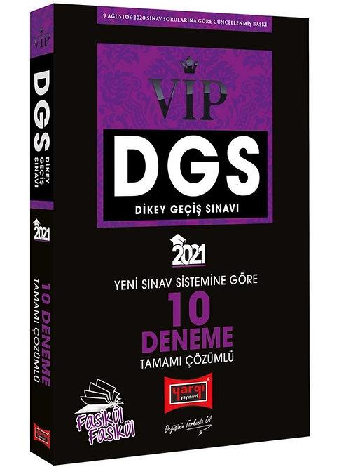 Yargı Yayınları 2021 DGS VIP Yeni Sınav Sistemine Göre Tamamı Çözümlü 10 Fasikül