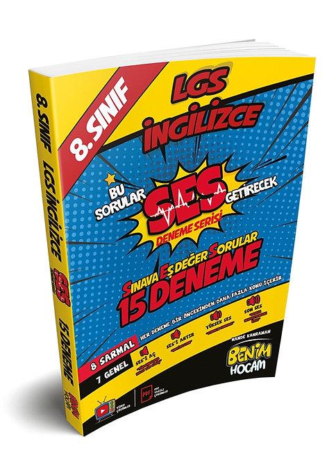 LGS 8. Sınıf SES Serisi İngilizce 15 Fasikül Deneme Benim Hocam Yayınları