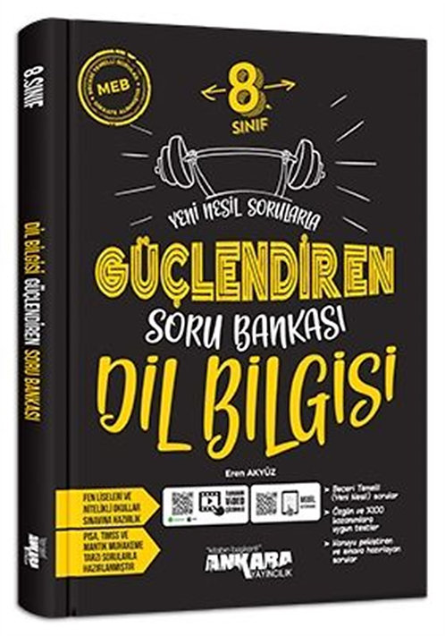 Ankara Yayıncılık 8. Sınıf Güçlendiren Dil Bilgisi Soru Bankası (2021)