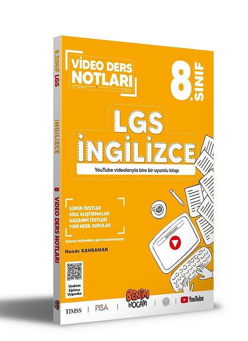 LGS 8. Sınıf İngilizce Video Ders Notları Benim Hocam Yayınları