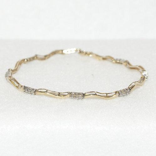 Women's Two Toned Diamond Bracelet