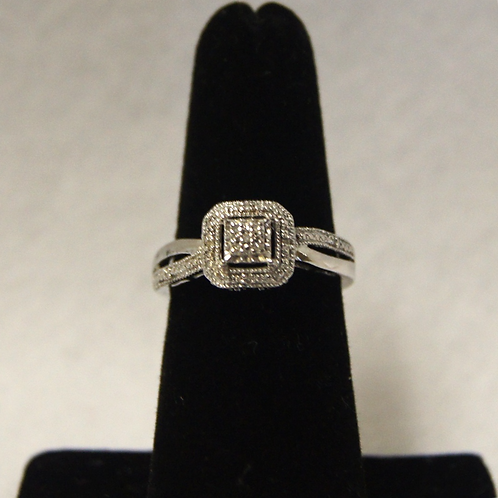 Women's Square Sterling Silver Ring