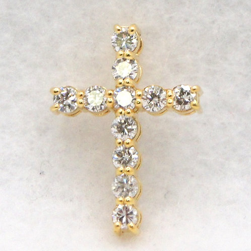 14k Gold & Diamond Cross Charm