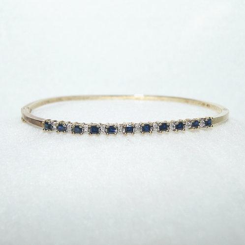 Sapphire and Diamond Women's Bangle