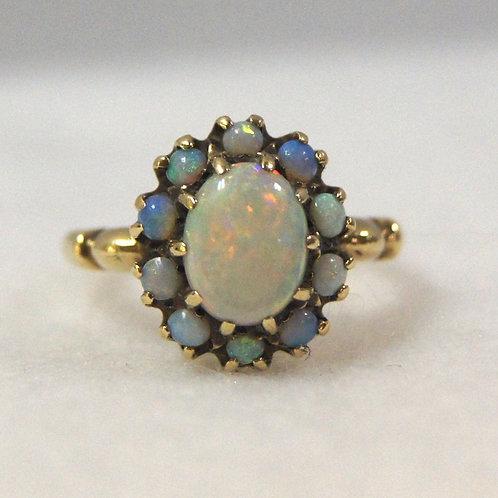 Women's Gold Opal Ring
