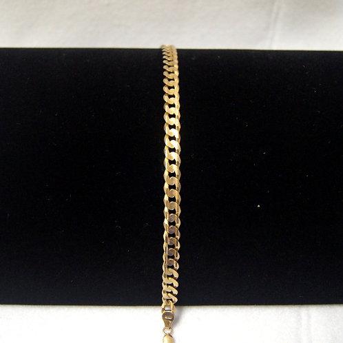 Men's Flat Curb link Bracelet