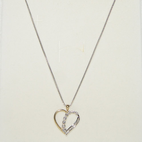 Women's White Gold Necklace with Heart Pendant