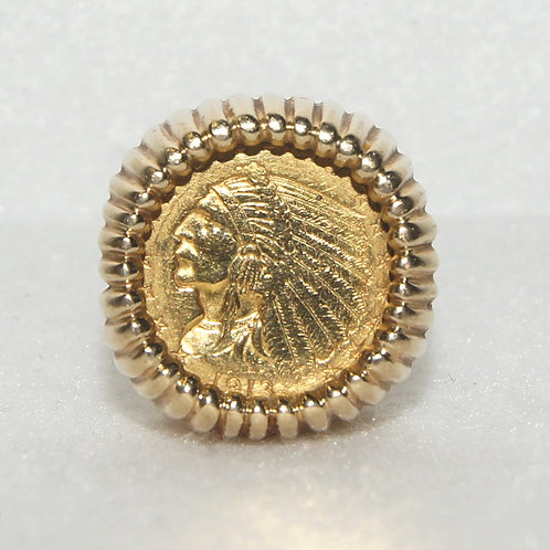 Unisex Indian Head Coin Ring