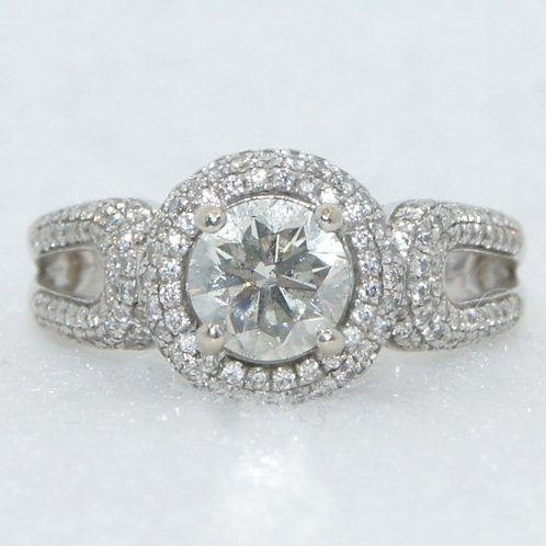 Women's Halo Setting Diamond Ring