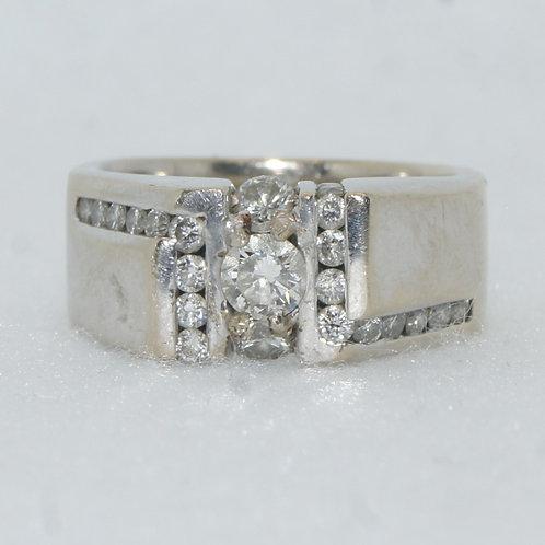 Men's White Gold Ring