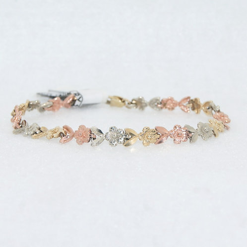 Tri Color Floral Bracelet