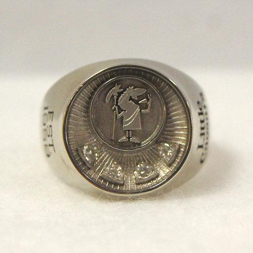 Little Caesar's White Gold Ring