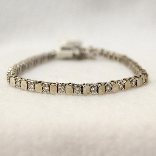 Women's White Gold Tennis Bracelet