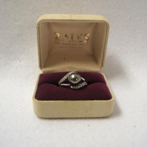 Na Hoku Black Tahitian Pearl Elegance Ring