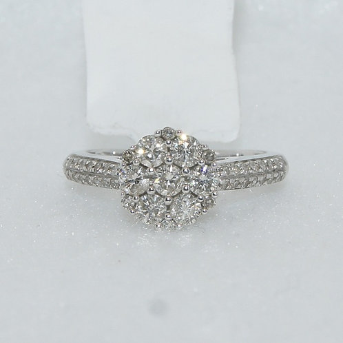 Women's Cluster Engagement Ring