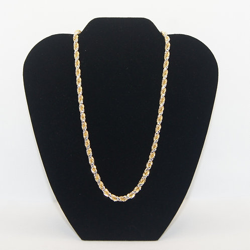 10k Two Toned White and Yellow Gold Chain