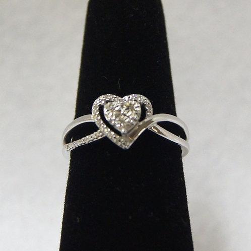 Women's Sterling Silver Heart Ring