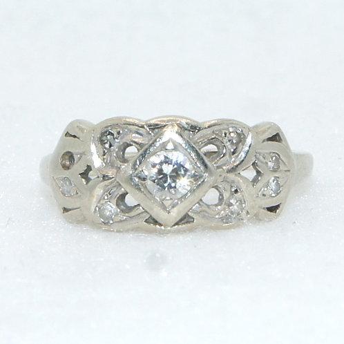 Women's Vintage White Gold Ring