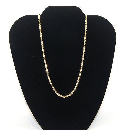 Unisex Gold Rope Chain