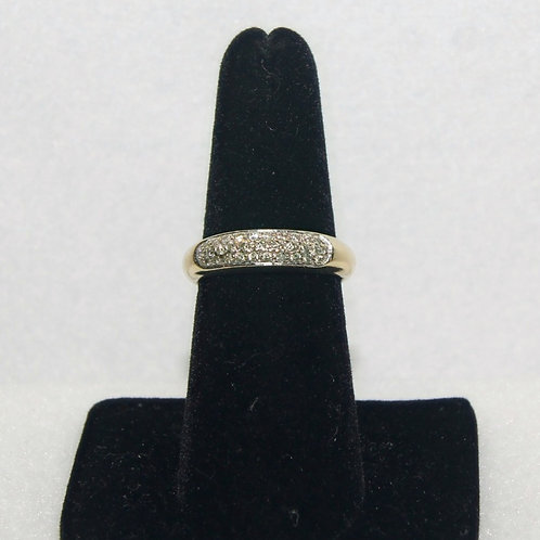 Diamond Band 14k Yellow Gold