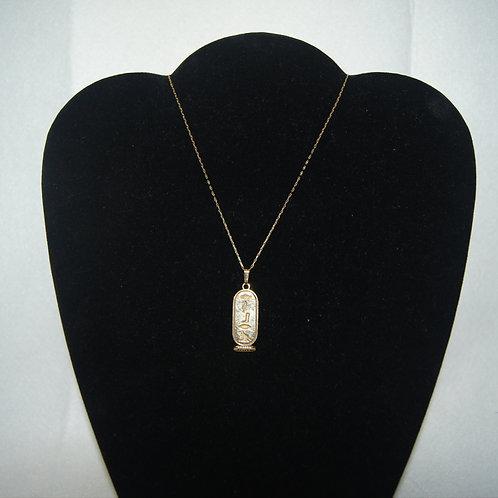 Egyptian Hieroglyphic Pendant & Necklace