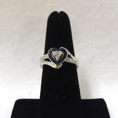 Women's Sterling Silver CZ Heart Ring