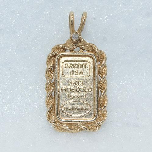 .999 1 Gram Pure Gold Bar Charm
