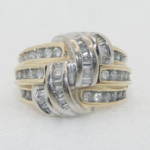 Women's Round & Baguette Diamond Ring
