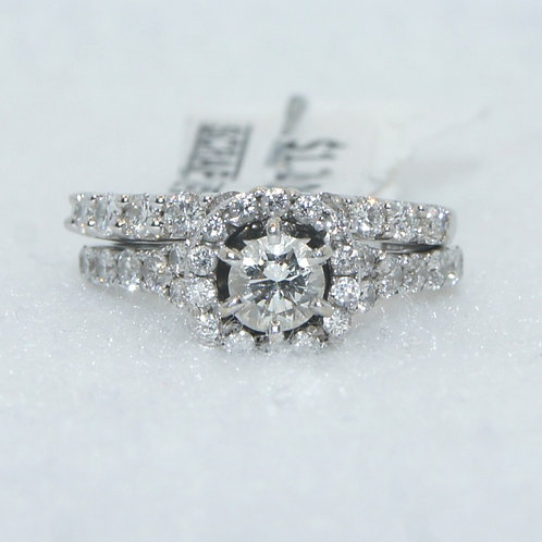 Women's Diamond Ring with Halo Band