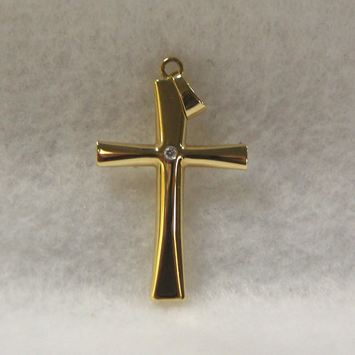 Unisex Gold Cross Charm