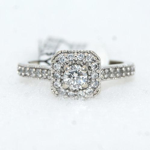 Women's Diamond Halo Engagement Ring