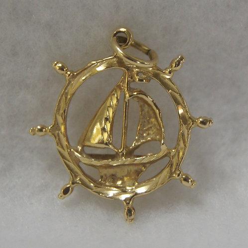 Unisex Sailboat Charm