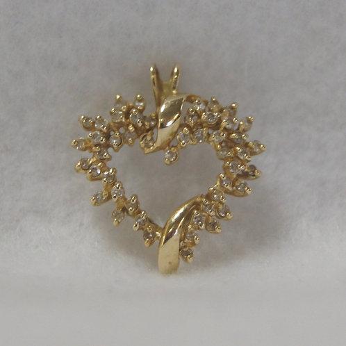 Women's Diamond Heart Charm