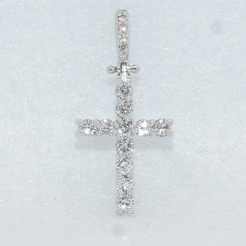 White Gold Cross Charm