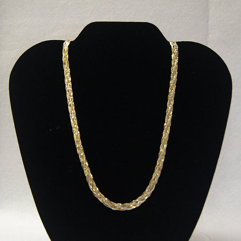 Two Toned Flat Weave Chain