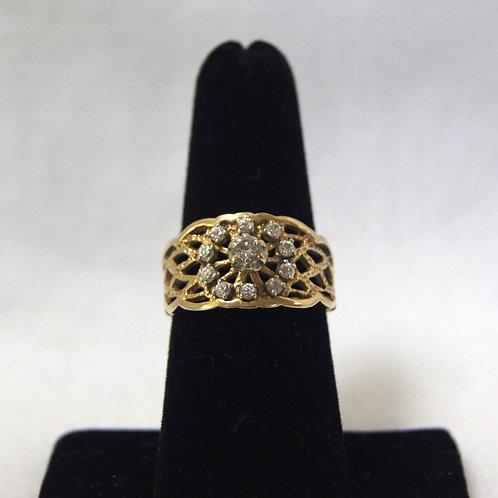Women's Gold Diamond Ring