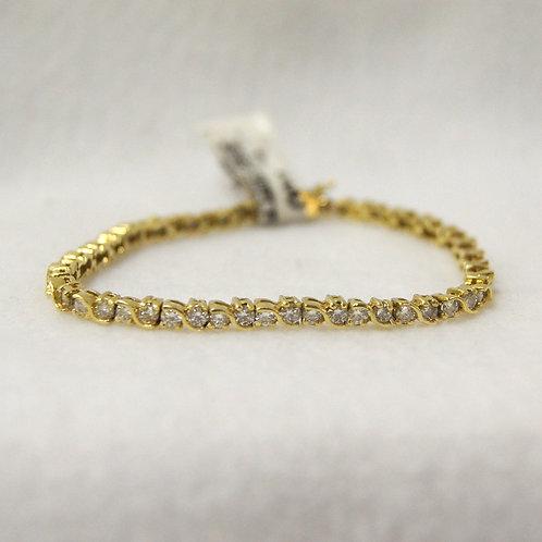 Women's 18k Gold Tennis Bracelet
