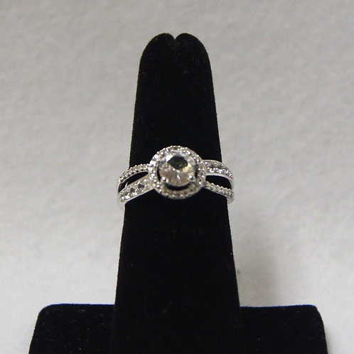 Women's Round Sterling Silver Ring