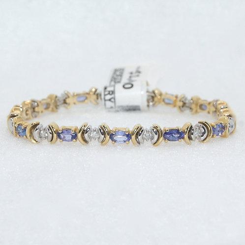 Diamond & Tanzanite Bracelet