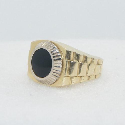 Men's Rolex Style Black Onyx Ring